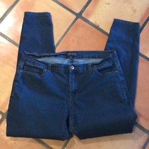 Forever 21 skinny jeans 16 blue stretch